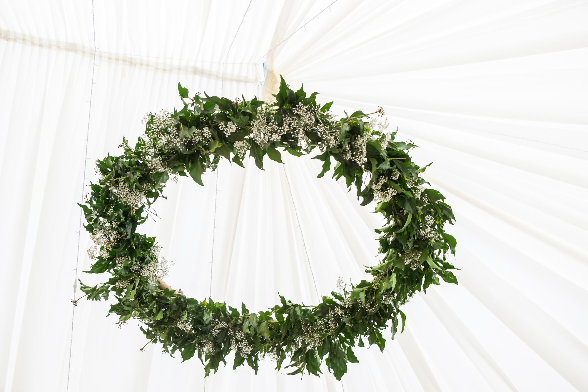 foliage and floral hoop
