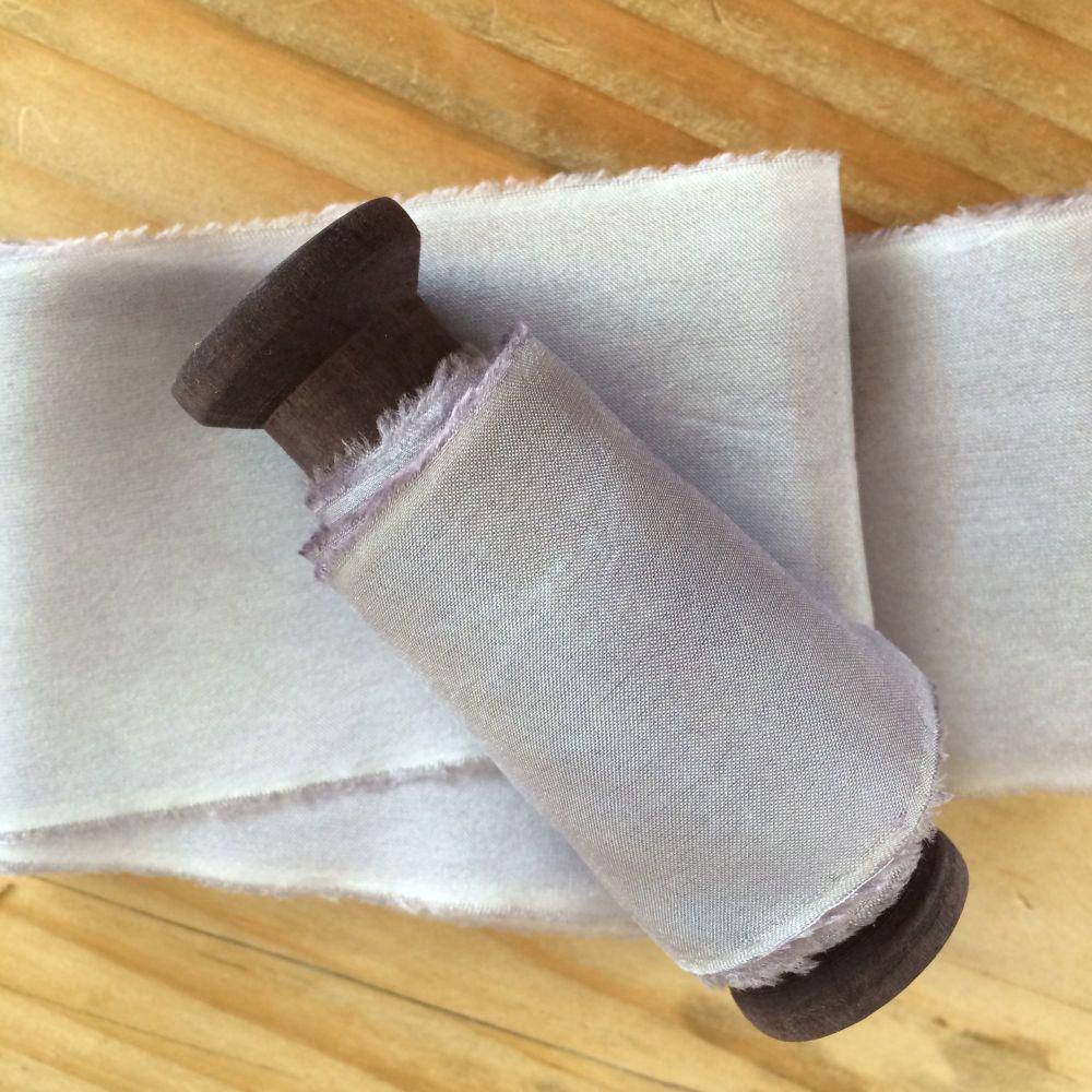Driftwood silk habotai ribbon