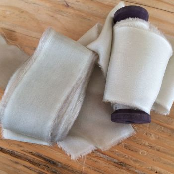 Moss silk habotai ribbon. No.9