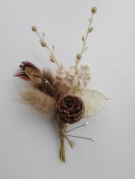 Winter Woodland Dried Flower Buttonhole