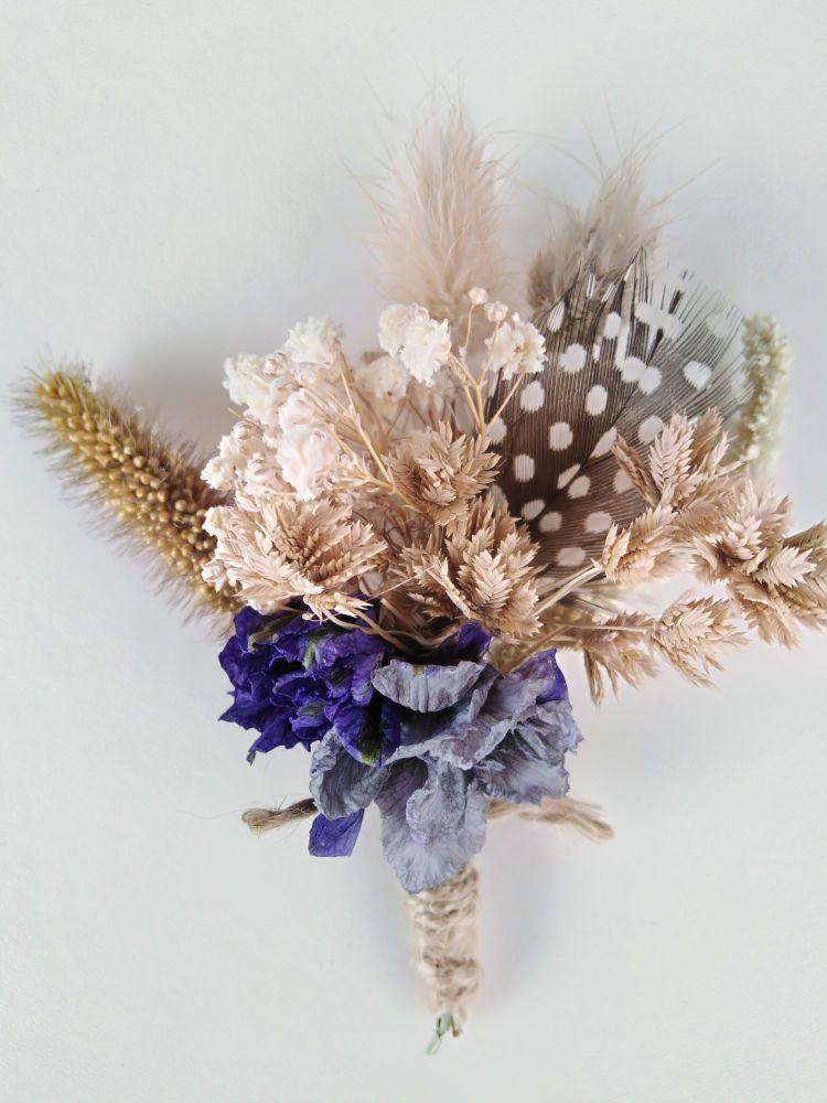 Dried flower buttonhole No. 6