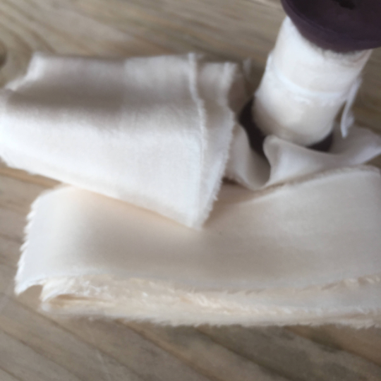 Ivory, habotai silk ribbonNew Product