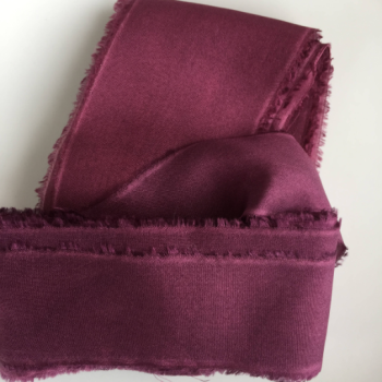 Berry, habotai silk ribbon