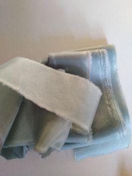 Eucalyptus, habotai silk ribbon
