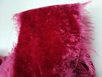 Cranberry, velvet silk ribbon