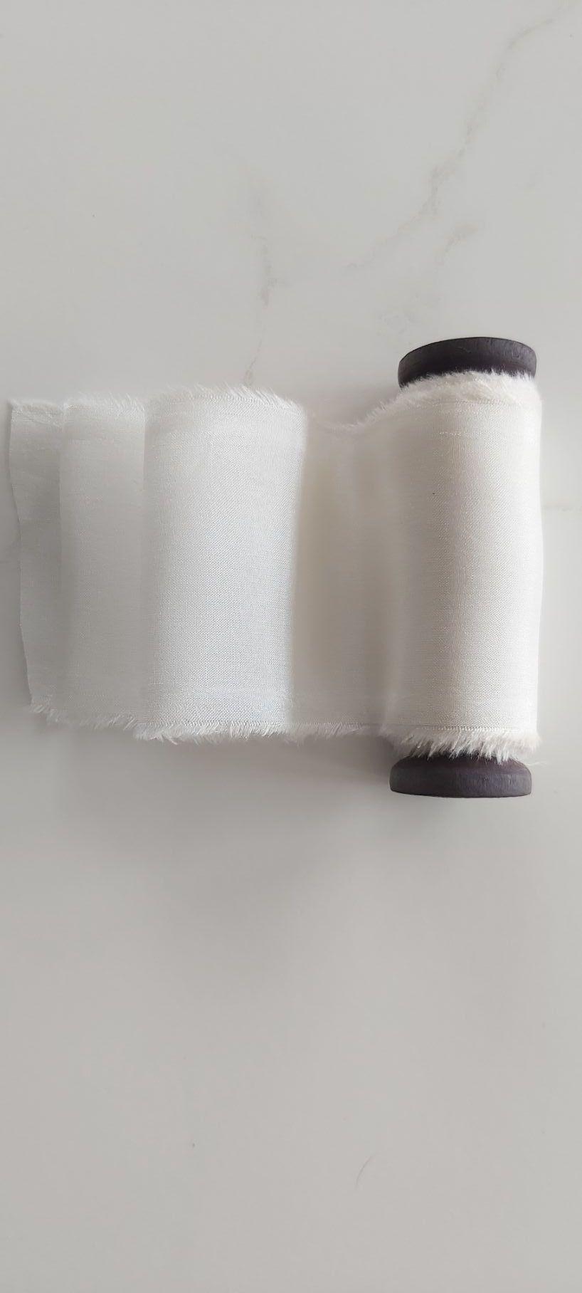 Ivory, habotai silk ribbonNew Product