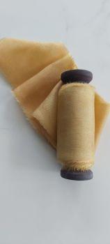 Mustard silk ribbon
