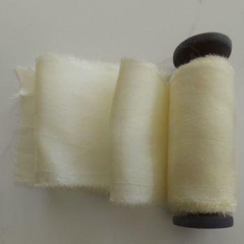 Buttermilk silk ribbon