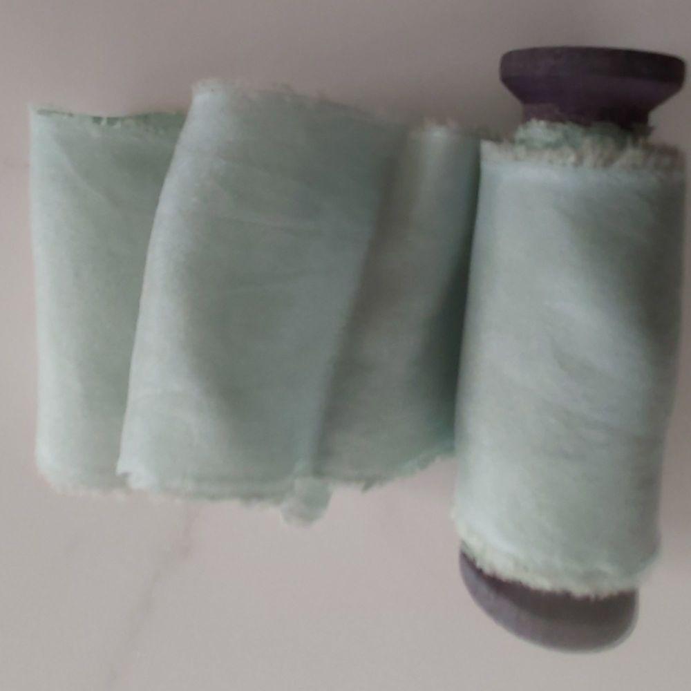 sage silk ribbon