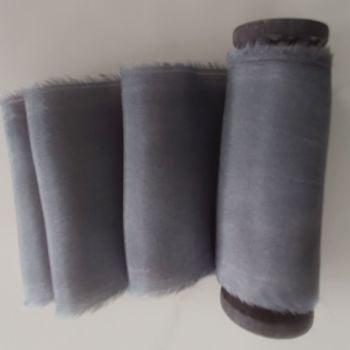Charcoal silk ribbon