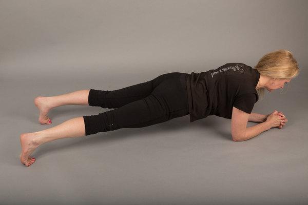 Plank open legs
