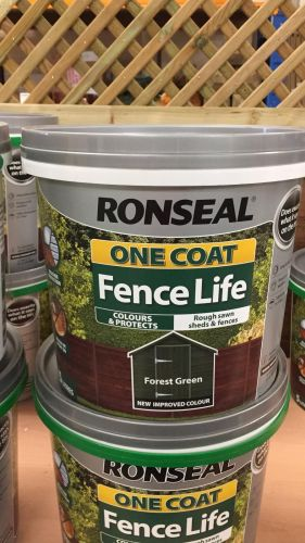 Ronseal Forest Green Fence Paint 5L