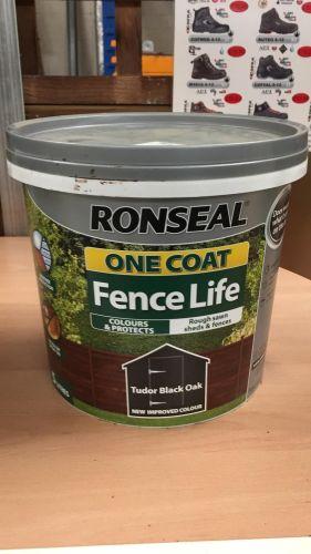 Ronseal Tudor Black Oak Fence Paint 5L
