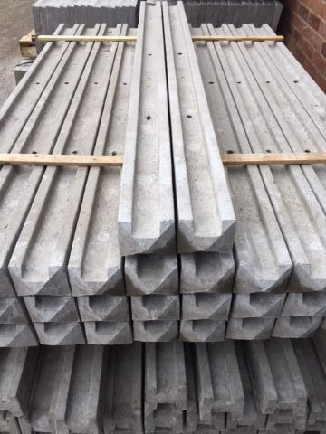 7ft Concrete Slotted Post