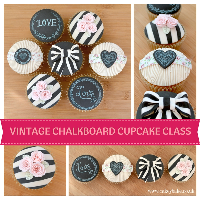 Vintage Chalkboard Cupcake Class