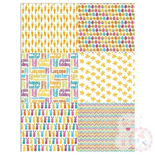 A4 Easter Patchwork Designs - great for bunting and cookies