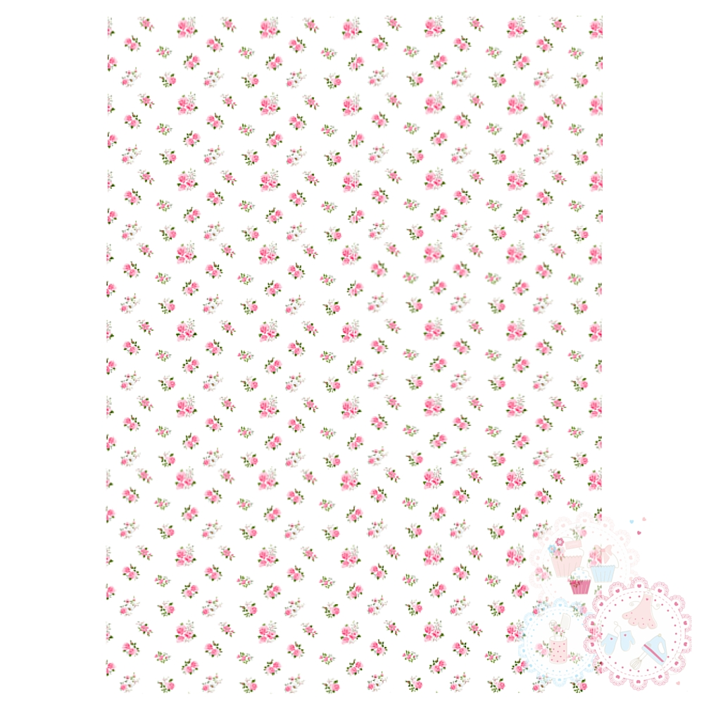Ditsy Pink Roses A4 Edible Printed Sheet