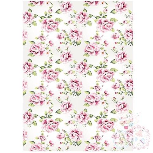 Pink Roses A4 Edible Printed Sheet