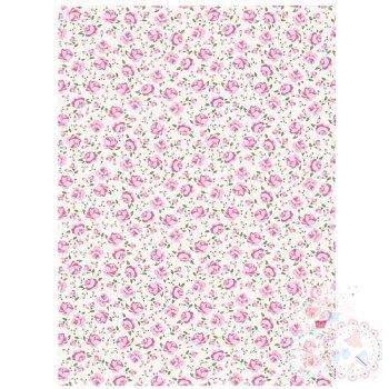 Pink & Cream Roses A4 Edible Printed Sheet