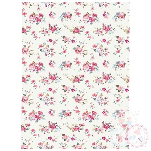 Ditsy Bright Roses A4 Edible Printed Sheet