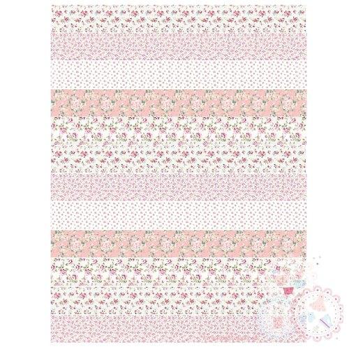 Rose Strips A4 Edible Printed Sheet