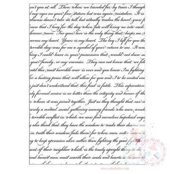 Edible Icing Sheet or Wafer Paper - Love Script Handwriting Design
