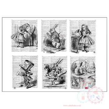 Alice in Wonderland panels - great for cake wrap
