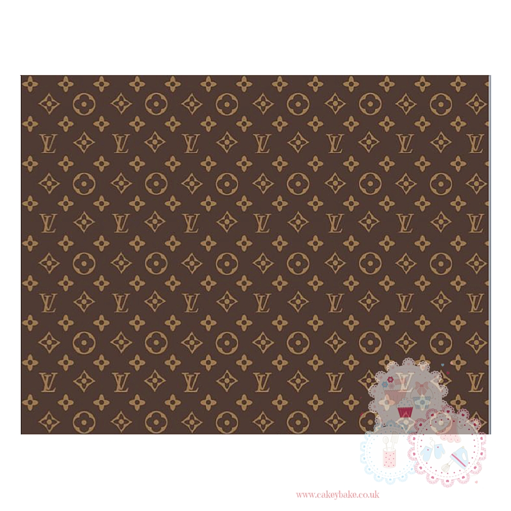 Edible Icing Sheet - Louis Vuitton Designer Logo Icing Sheet (portrait or l