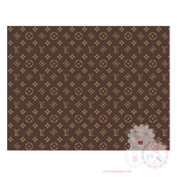 Edible Icing Sheet - Louis Vuitton Designer Logo Icing Sheet (portrait or landscape)