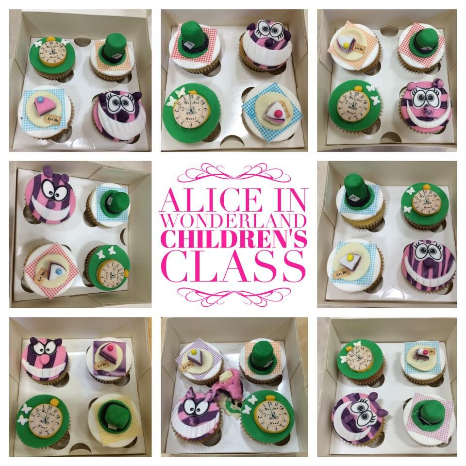 Alice in Wonderland Childrens Cupcake Class