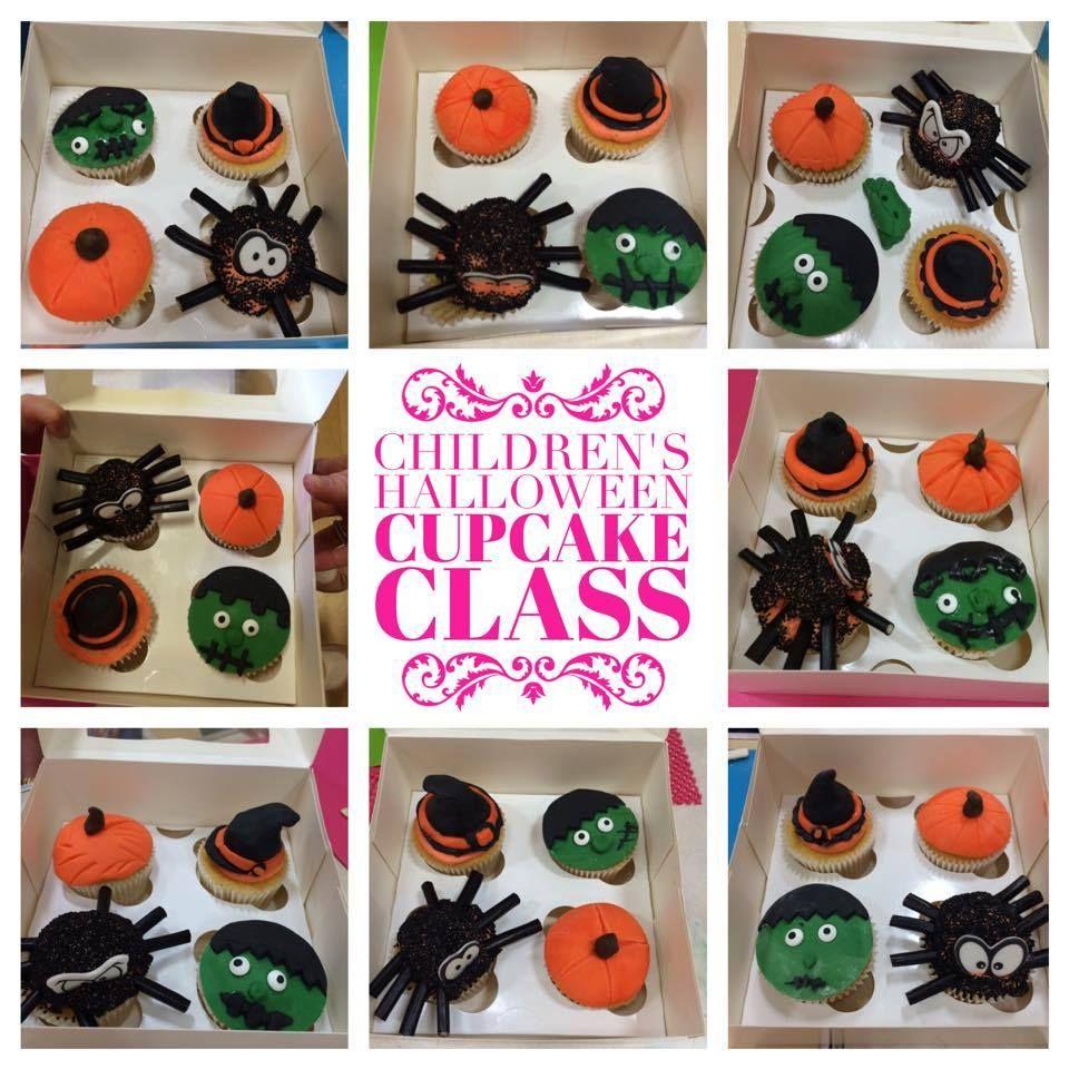 Halloween Childrens Cupcake Class 2015