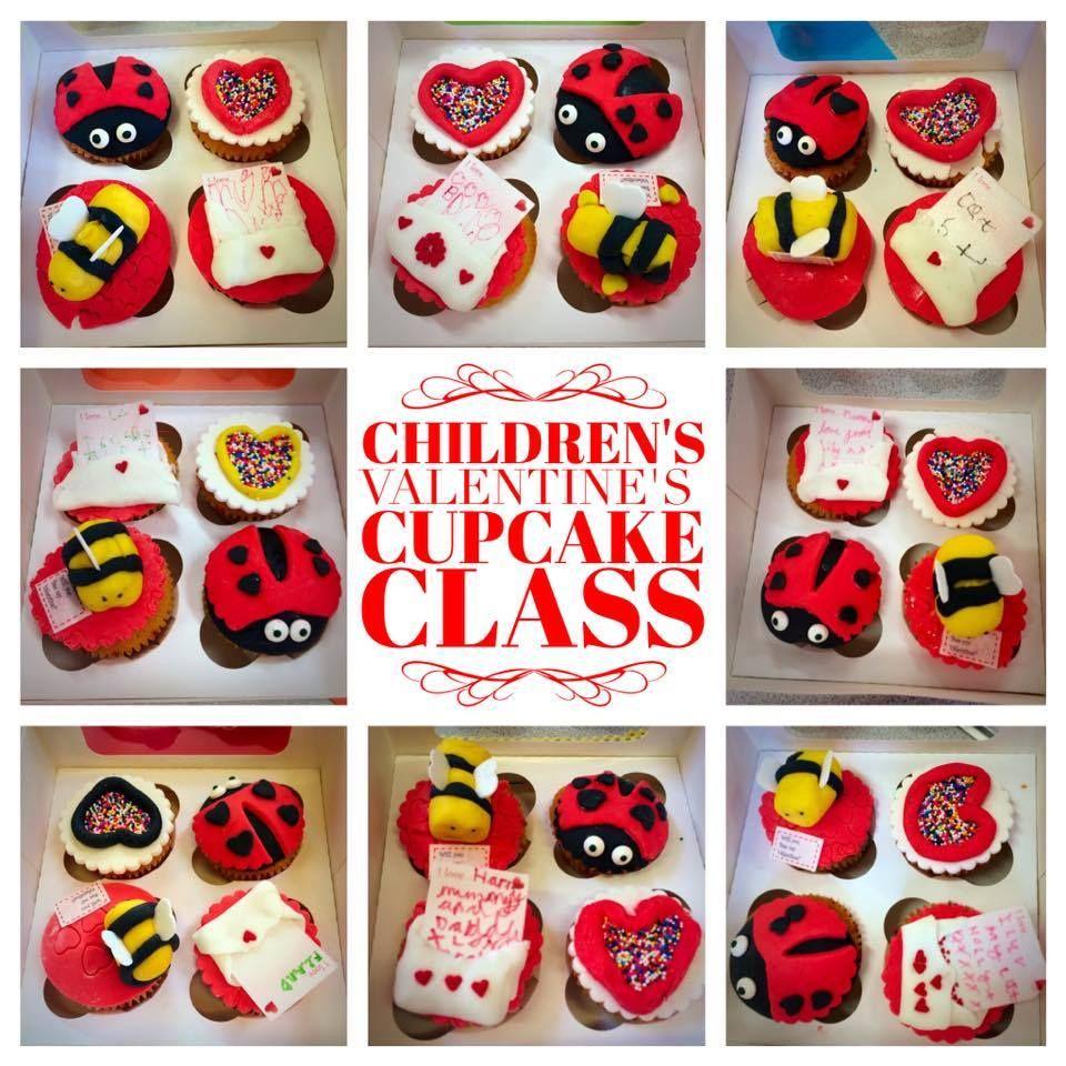 Valentines Childrens Cupcake Class 2016