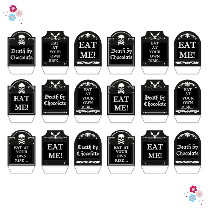 Tombstone Edible Cupcake Toppers