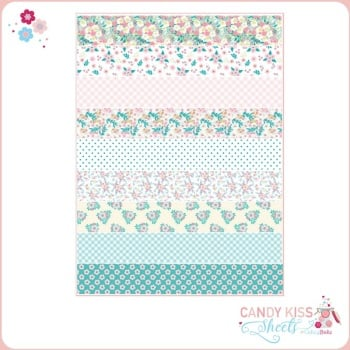 Assorted Flowers Candy Kiss Sheet