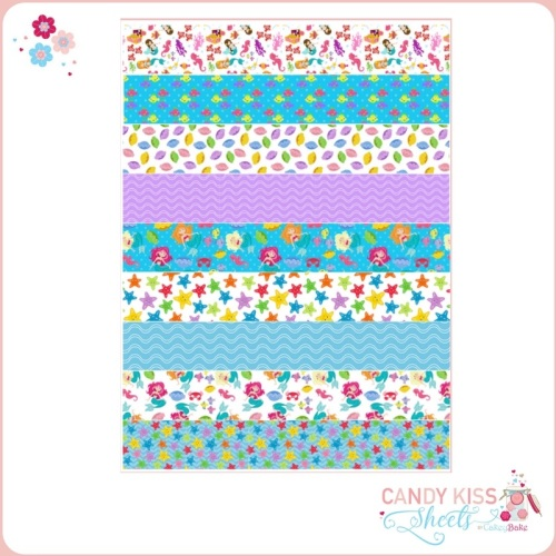 Mermaids Candy Kiss Sheet