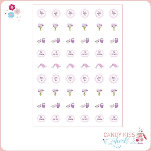 Mother's Day Candy Kiss Sheet