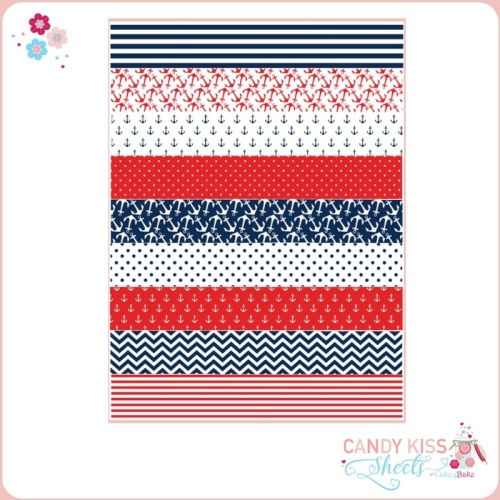 Nautical Sea Themed Candy Kiss Sheet