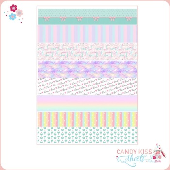 Pastel Rainbow Candy Kiss Sheet