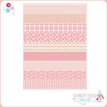Pink Patterns Candy Kiss Sheet