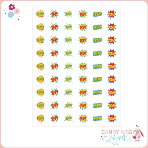 Superhero Kapow Candy Kiss Sheet