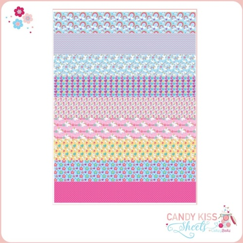 Unicorns and Rainbows Candy Kiss Sheet