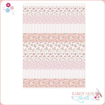Vintage Pink Rose Candy Kiss Sheet