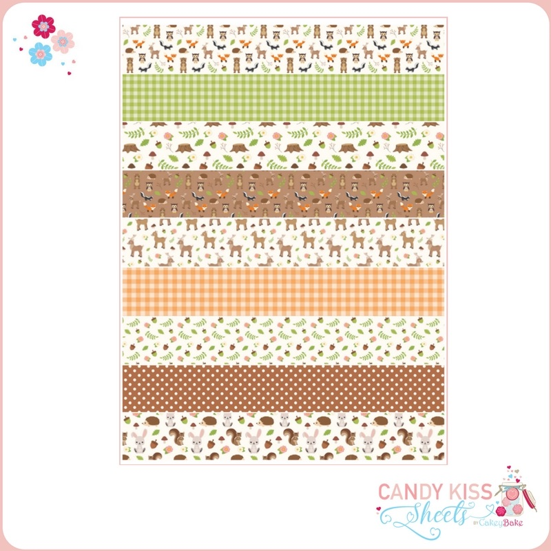 Woodland Animals Candy Kiss Sheet