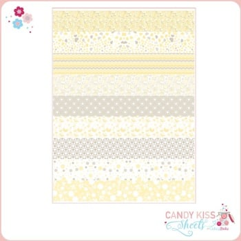 Yellow Babyshower Candy Kiss Sheet