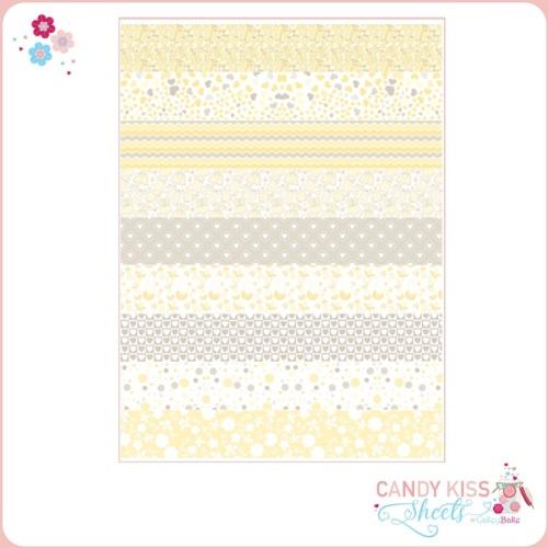 Yellow Babyshower Candy Kiss Sheet
