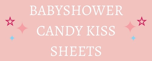 Babyshower / New Baby Edible Candy Kiss Sheets
