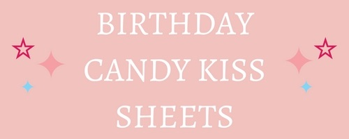 Birthday Edible Candy Kiss Sheets