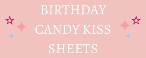 Birthday Edible Candy Kiss Sheets