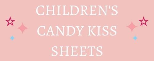 Children's Designs Edible Candy Kiss Sheets