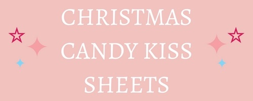 Christmas Edible Candy Kiss Sheets